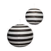 Paper Lanterns, Black And White Stripe by Z Gallerie