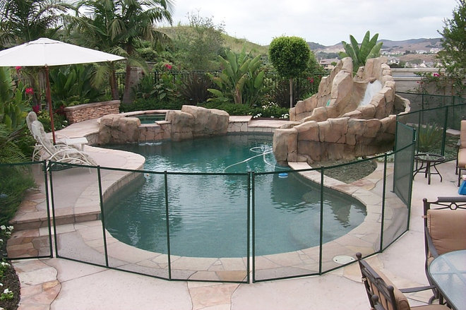 Contemporary  by All-Safe Pool Fence & Covers