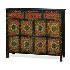And Arts Hand Painted Tibetan Cabinet Accent Chests And Cabinets