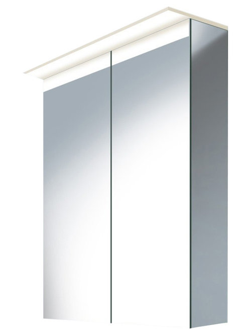 ... mirror glass 2 Glass shelves (clear glass) Mirror cabinets require to