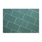 Teal Faux Glass Mosaic Tile Eclectic Wallpaper Dc