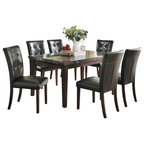 Homelegance Euro Casual 5 Piece Round Pedestal Dining Room