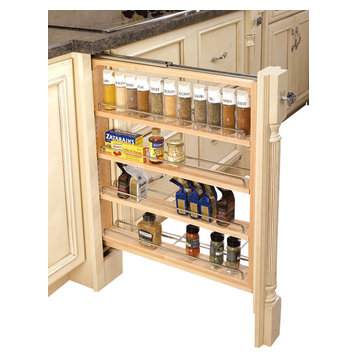 Rev-A-Shelf - 3-Inch Wood Base Cabinet Pullout Filler With ...