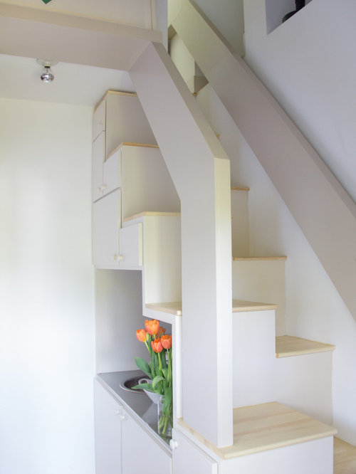 Space saving stairs home design ideas pictures remodel - Space saving stair design ...