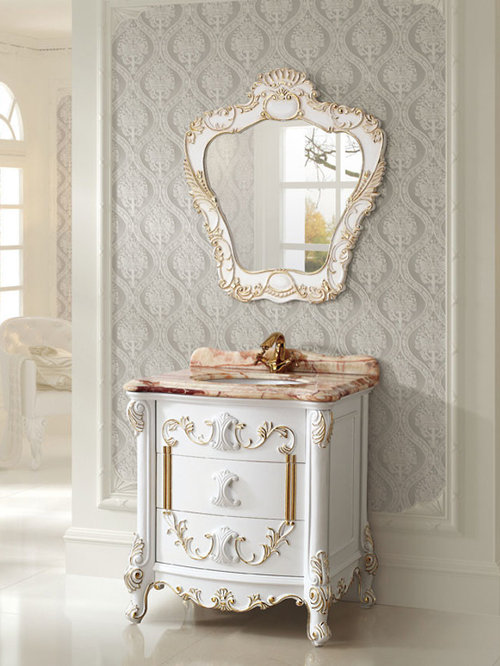 Antique style bathroom vanities for Bathroom vanities vintage style