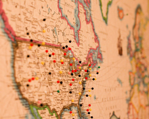 Wall Maps With Push Pins – Travel Wall Maps With Pins