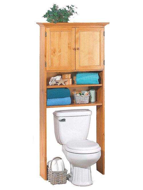 "The Toilet Shelf Heirloom Pine 67""Hx28 1/2""W - Over the toilet storage ..."