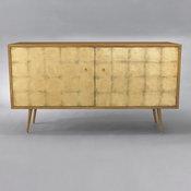 Franklin Media Cabinet - Gold Leaf