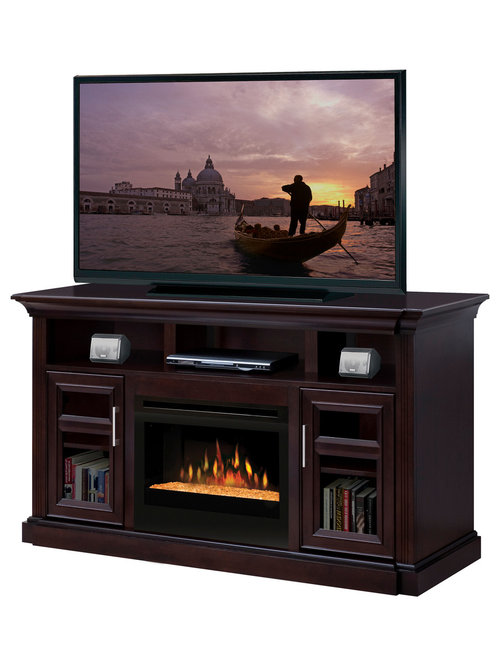 Electric fireplace tv media consoles - Contemporary electric fireplaces entertainment center ...