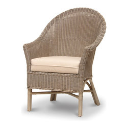 Armchairs accent chairs houzz for Triple papasan chair