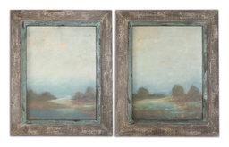 Uttermost Morning Vistas Framed Art, Set of 2