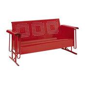 Bates Sofa Glider, Red