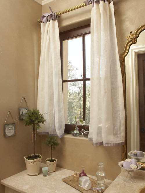 Bathroom window curtain home design ideas pictures for White curtains design ideas