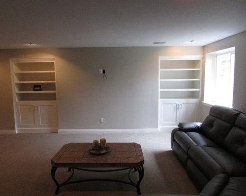 Basement Design Ideas Renovations amp Photos With Beige Walls