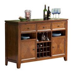 Alpine Furniture - Albany Server With Wine Storage - The lovely Albany Server With Wine Storage ...