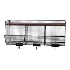 ... Privilege International 3-Bin Wall Storage - Display And Wall Shelves