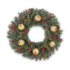 Snowflake Wreath White Modern Wreaths And Garlands