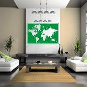 Vinyl Wall Art World Map Wall Mural