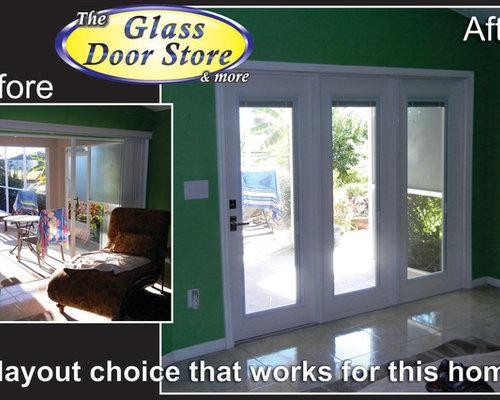 replace sliding glass door with french door 1