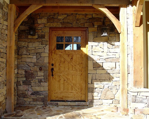 stone around front door home design ideas pictures