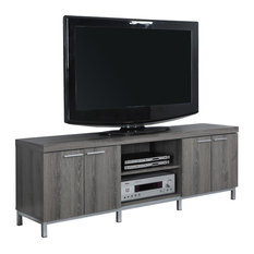 Monarch Specialties Dark Taupe Reclaimed Look 60 Quot L Tv