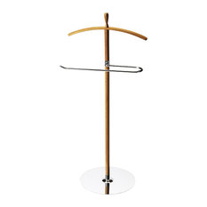 Butler - Turco Modern Valet Stand - The Turco modern valet stand is crafted out of a bamboo post and a metal bottom plate. This piece will add great functionality to your space while keeping your clothing organized, neat and wrinkle-free.
