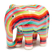 Hand-Painted Rajasthani Striped Elephant