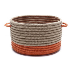 Colonial Mills Basket Marina Baskets Round Neutral Basket Storage
