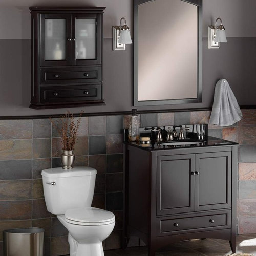 Bathroom vanities - Foremost berkshire espresso bathroom wall cabinet ...