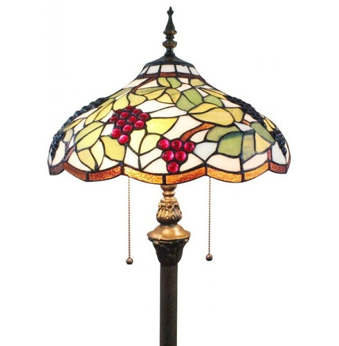 16 stained glass grape shade tiffany home floor lamp floor lamps. Black Bedroom Furniture Sets. Home Design Ideas