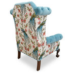 Pink Floral Lady S Chair Contemporary Armchairs And