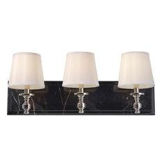 Bathroom Vanity Lights With Fabric Shades : Traditional Bathroom Vanity Lights with a Fabric Shade Houzz