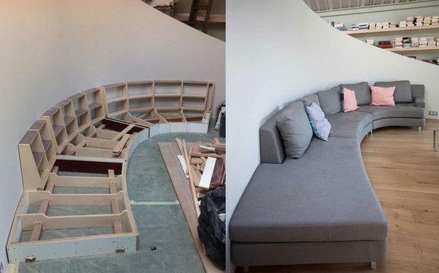 Prima e dopo: il loft che gira attorno ad una scala