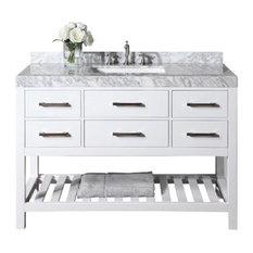 Designs Elizabeth Vanity With Basin And Italian Cararra Marble Top