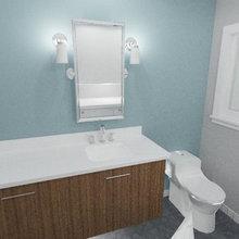 Fremont Split level Ranch Mid Century Modern Guest Bath 3