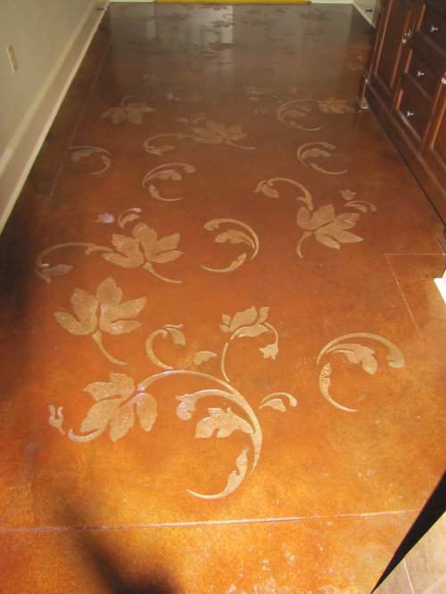 Stenciled Concrete Floor Home Design Ideas Pictures
