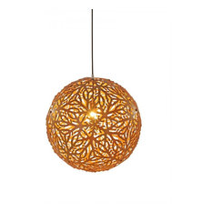 Modern wood natural pendant lights houzz - Artistic d lamp shade designed with modern and elegant shape style ...