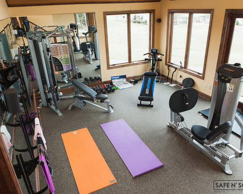 Luxury home gym design ideas renovations photos with