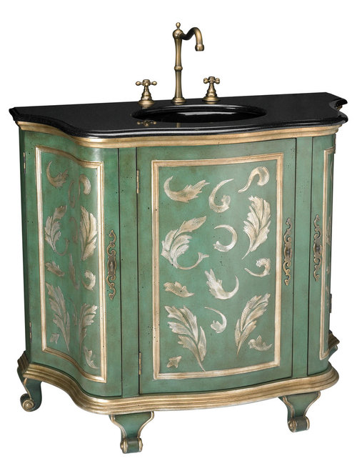 ornate and antique bathroom vanities