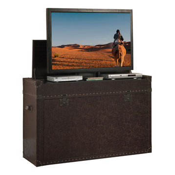 """to 46"""" - The Ellis Trunk is one of our most popular TV lift cabinets ..."""