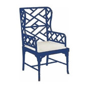 Chinese Chippendale Wing Chair