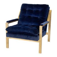 Blue Velvet Chairs Houzz