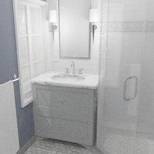 Piedmont Transitional Guest Bath