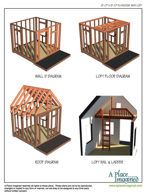 8x8 Playhouse With Loft Plans