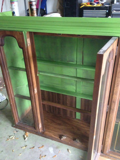 reuse an outdated china cabinet