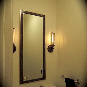 vanity mirror rubbed bronze bathroom mirrors