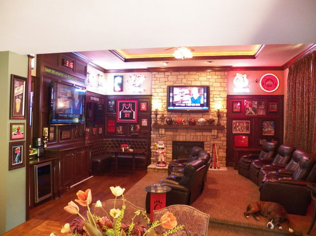 19 Grown Up Man Cave Essentials : A sports bar in the family room