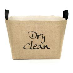 Southern Bucket Dry Clean Burlap Storage Bin Storage Bins And