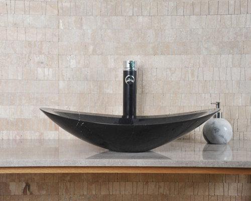 Nero - Black Marquine Stone Basin - Bathroom Basins