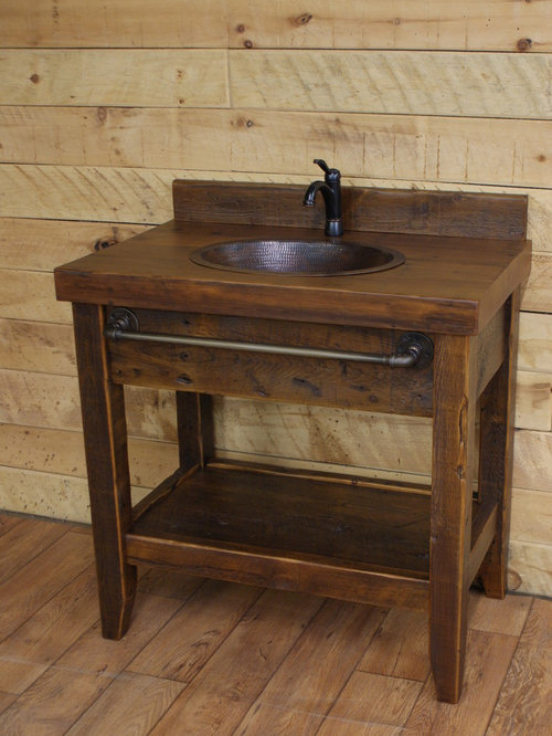 Brilliant Rustic Bathroom Vanities Can Have A Vintage, Industrial, Modern Or Midcentury Modern Feel But Its Always A Wooden One You Can Make Some Yourself, Or Repurpose A Wooden Table, Cabinet Or Sideboard Into A Cool Vanity The Only
